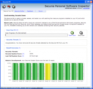 Secunia Personal Software Inspector - PSI 3.0