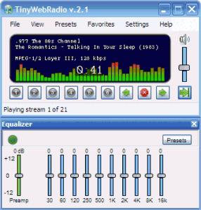 TinyWebRadio 2.3 - náhled