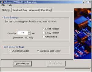 Dataram RAMDisk 4.4.0.RC36 - náhled