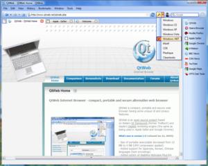 QtWeb Internet Browser 3.8.5 - náhled