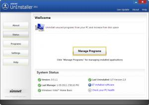Simnet Uninstaller 2011 3.1.2.3 - náhled