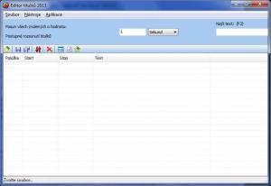 Editor titulků 1.0.0.3 - náhled