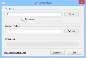 7z Extractor 1.0 - náhled