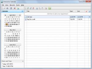 Interactive Calendar 2.1 - náhled
