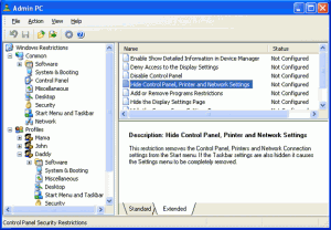 Admin PC 1.9 - náhled