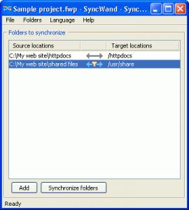 SyncWand 1.2 - náhled