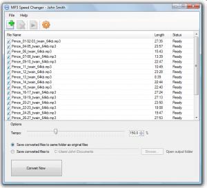 MP3 Speed Changer 3.01 - náhled