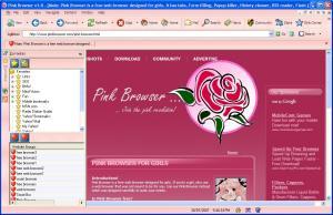 Pink Browser 1.0 - náhled
