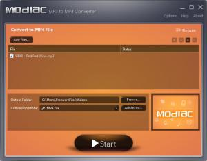 Modiac Free MP3 to MP4 Audio Converter 1.0 - náhled