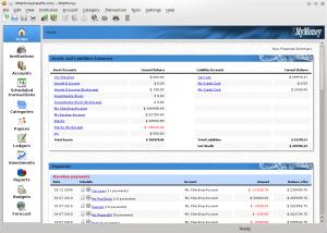 KMyMoney 4.6.4 - náhled