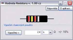 Hodnota rezistoru 1.0 - náhled