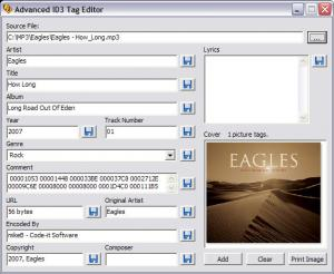Advanced ID3 Tag Editor - náhled