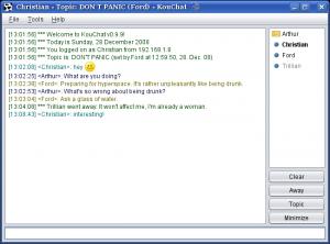 KouChat 1.0.0 - náhled
