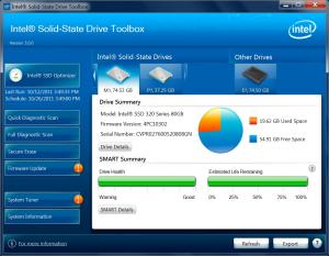 Intel SSD Toolbox 3.2.3 - náhled