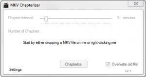 MKV Chapterizer 2.4.0.0 - náhled