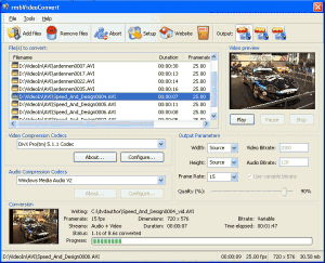 rmbVideoConver 1.2 - náhled