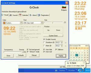 G-Clock 1.1.e - náhled