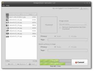 ImageShack Uploader 2.2.0 - náhled