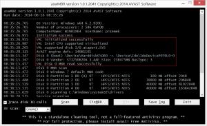 aswMBR 1.0.1.2290 - náhled