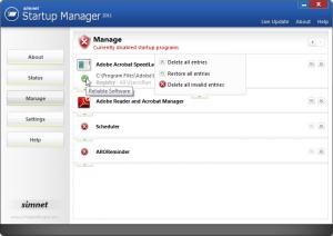 Simnet Startup Manager 2011 3.1.2.1 - náhled