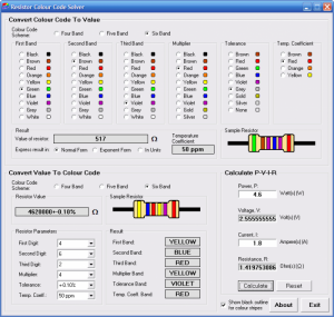 Resistor Colour Code Solver Portable 1.3.1 - náhled