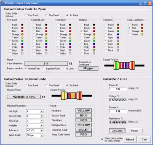 Resistor Colour Code Solver 1.3.1 - náhled