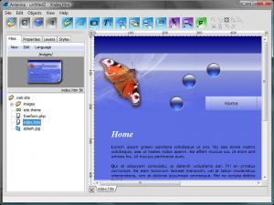 Antenna Web Design Studio 4.0 - náhled