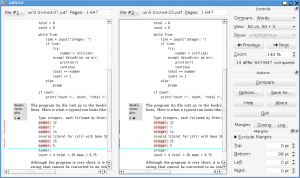 DiffPDF 5.9.3 - náhled