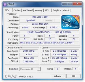 CPU-Z 1.78 - náhled