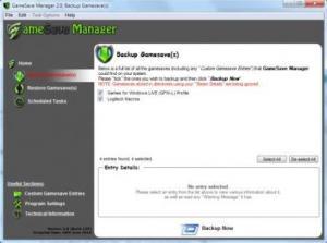 GameSave Manager 3.1.476.0 - náhled