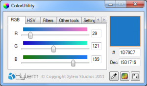 ColorUtility 1.72 - náhled