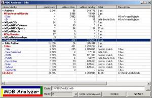 MDBAnalyzer 1.2 - náhled