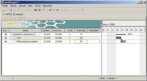 GanttProject - náhled