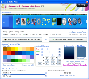 Peacock Color Picker 2.0.0 - náhled
