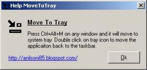 MoveToTray 1.0 - náhled