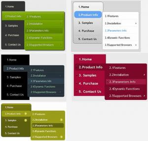 CSS3 Menu 2.3 - náhled