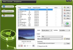 Oposoft Video Converter 7.7 - náhled