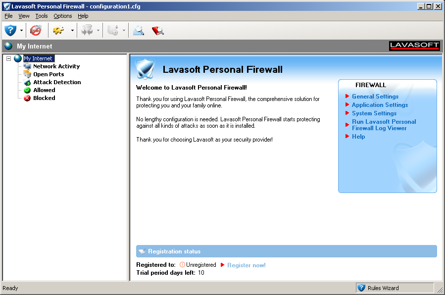 Lavasoft Personal Firewall 1.0 - Plná licence - 1 licence