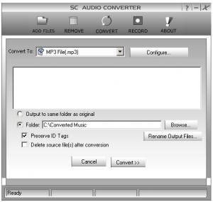 SC Audio Converter 7.4.0.2 - náhled