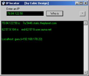 IP Locator 0.9 - náhled