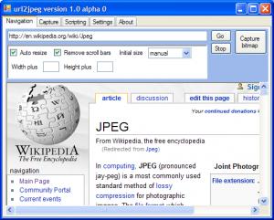 URL2JPEG 1.1 - náhled