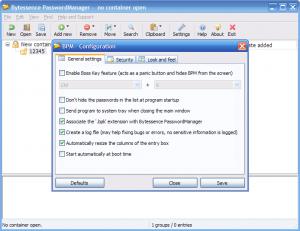 Bytessence PasswordManager 3.0.0.0 - náhled