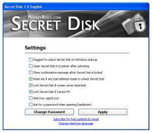 Secret Disk 4.06 - náhled
