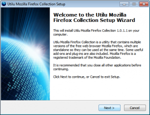 Utilu Mozilla Firefox Collection 1.1.7.3 - náhled
