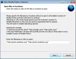 Utilu Mozilla Firefox Collection 1.1.7.0 - náhled