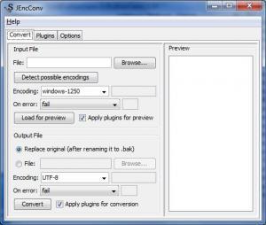 JEncConv Encoding Converter 2.0 - náhled