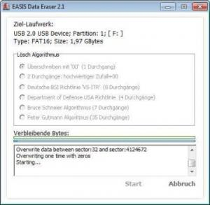 EASIS Data Eraser 2.11 - náhled