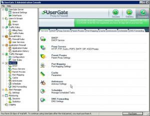 UserGate Proxy & Firewall 6.0 - náhled