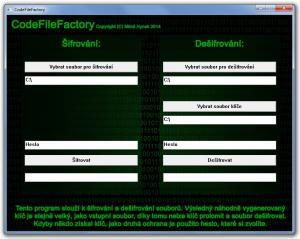 CodeFileFactory 1.0 - náhled