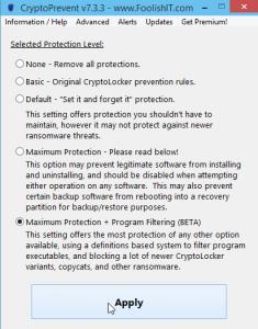CryptoPrevent 7.4.21 - náhled